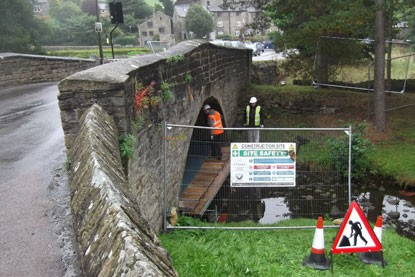 Repairing Smithy Road Bridge with Helibars and CemTies