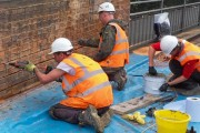 The Goldhawk bridge repair team at work