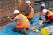 The Goldhawk bridge repair team at work