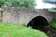 Smithy Bridge sandstone single span arch