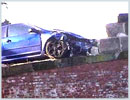 A dangerous parapet in the instance of a road traffic accident