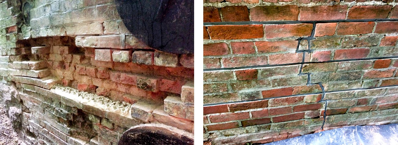 Hale Bridge restoration Hampshire –masonry arch repair