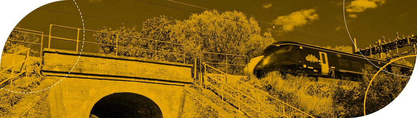Rail bridge strengthening for heavy freight
