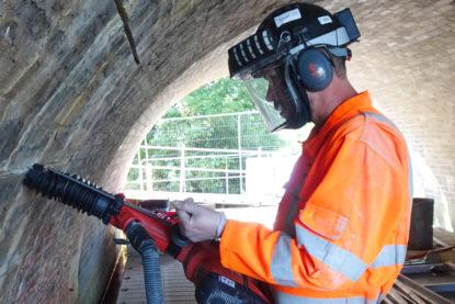 Goldhawk Bridge Restoration worker wearing the appropriate PPE
