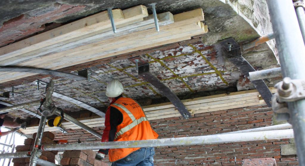 Goldhawk Bridge Restoration – building up brickwork on a redundant railway bridge