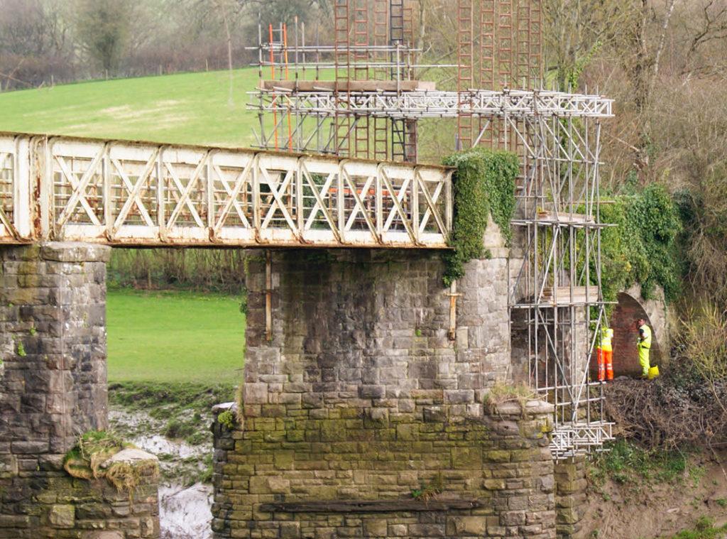 Goldhawk Bridge Restoration – suspended platform access over the River Wye