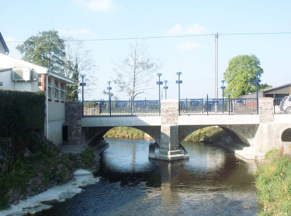 Bridge over the River Taf in Carmarthenshire, under arch lining replaced using the MARS system by Goldhawk Bridge Restoration