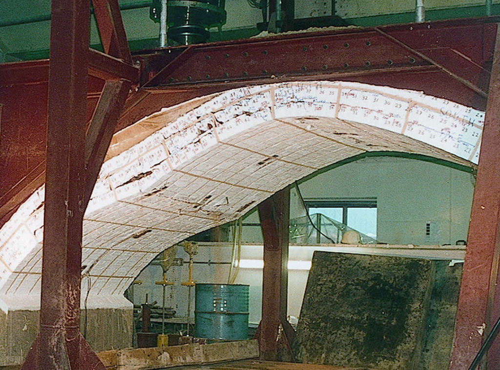 Transport Research Laboratory test of 5m span arch